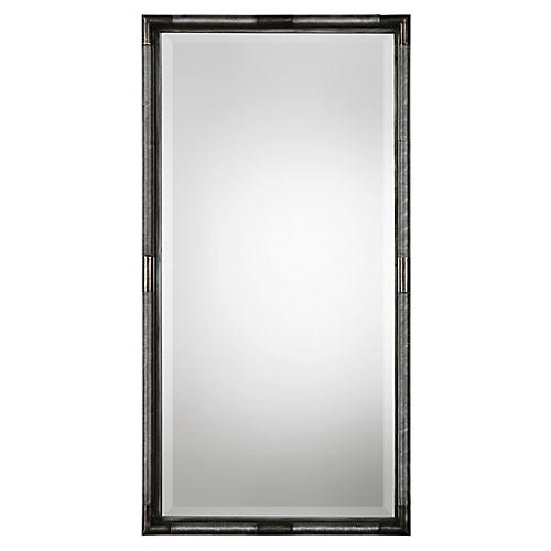 Finnick Wall Mirror, Antiqued Silver Leaf