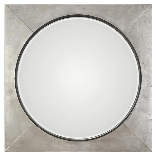 Solomon Wall Mirror, Silver Leaf