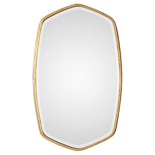 Duronia Wall Mirror, Antiqued Gold Leaf