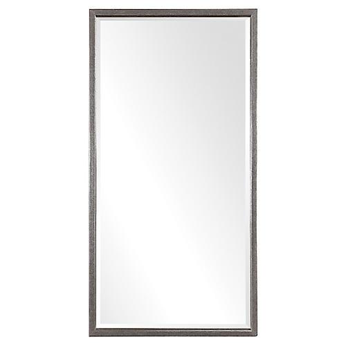Gabelle Floor Mirror, Antiqued Gold