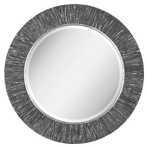 Wenton Wall Mirror, Gray