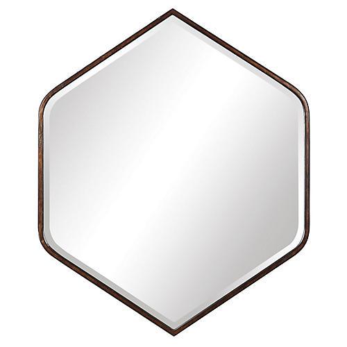 Rosalind Wall Mirror, Dark Bronze