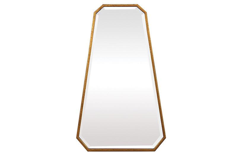 Keaton Wall Mirror, Gold Leaf