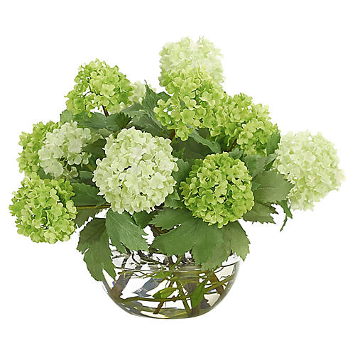 """12"""" Snowball in Bubble Vase, Faux"""