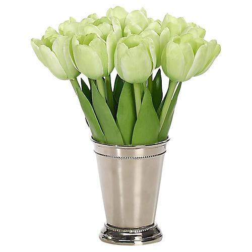 """8"""" Tulip in Tumbler, Faux"""
