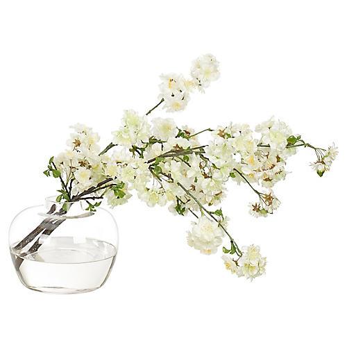 """19"""" Blossom Branch in Ginger Vase, Faux"""