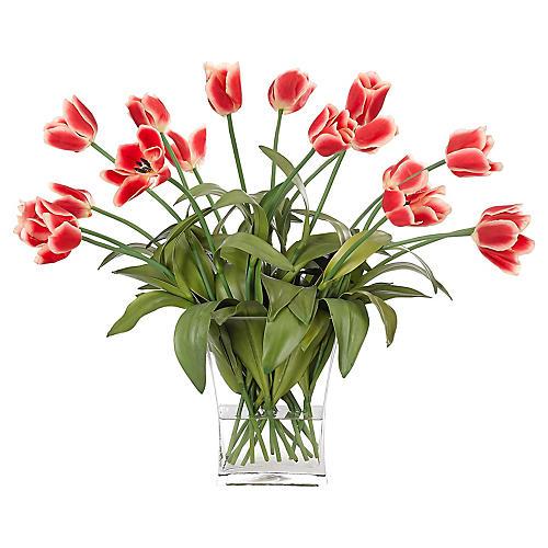 "27"" Tulip in Vase, Faux"