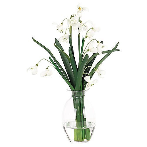 Snowdrop in Vase, Faux