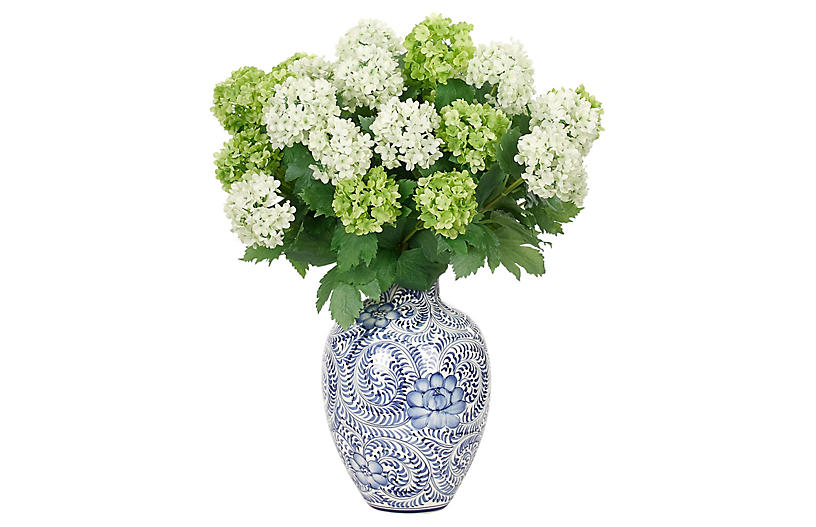 Snowball in Vase, Faux