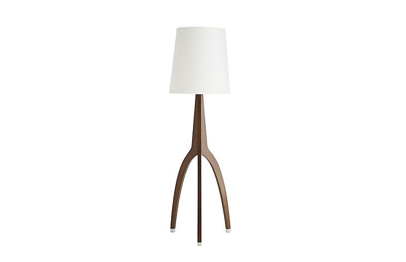 Linden Floor Lamp, Walnut
