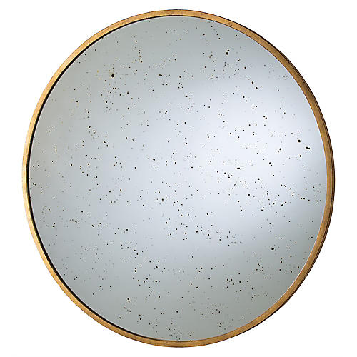 Kira Wall Mirror, Gold Leaf