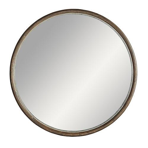 Lesley Wall Mirror, Light Walnut