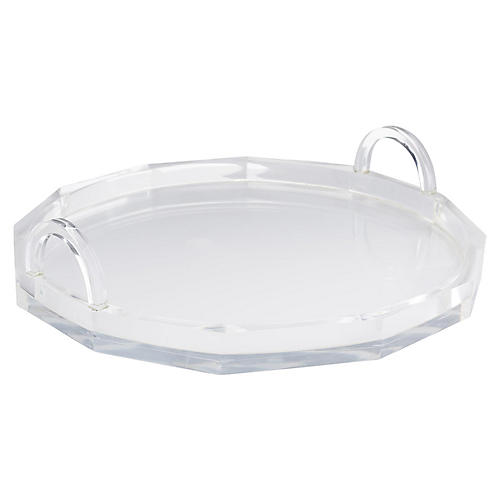 "17"" Lisa Tray, Clear"