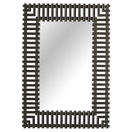 Marshall Wall Mirror, Heritage Gray
