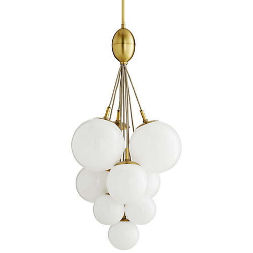 Orchard Chandelier, Antiqued Brass