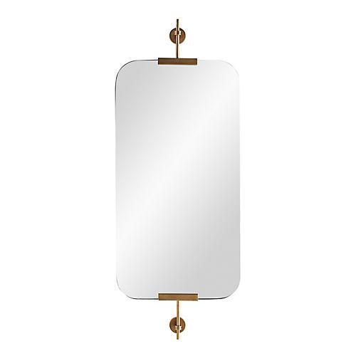 Madden Wall Mirror, Antiqued Brass