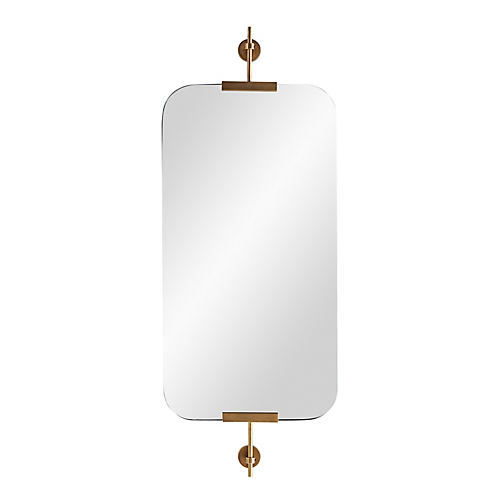 Madden Wall Mirror, Antiqued Brass