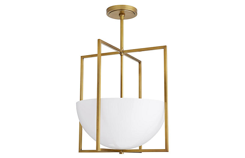 Royce Pendant, Antiqued Brass