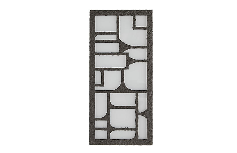 Shani Outdoor Sconce, Aged Iron