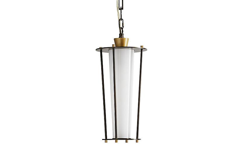 Sorel Outdoor Pendant, Aged Brass