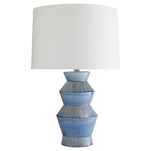 Ogden Table Lamp, Provincial Blue