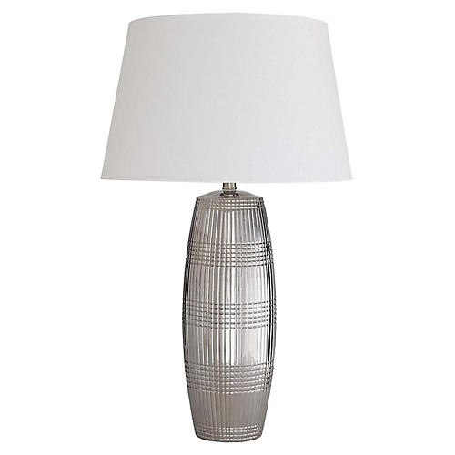 Bliss Table Lamp, Polished Silver