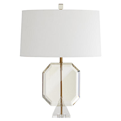 Emerald Table Lamp, Champagne