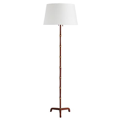 Addison Floor Lamp, Cognac