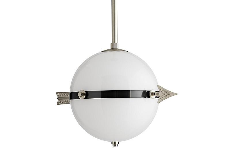 Celestial Pendant, Vintage Silver/Opal