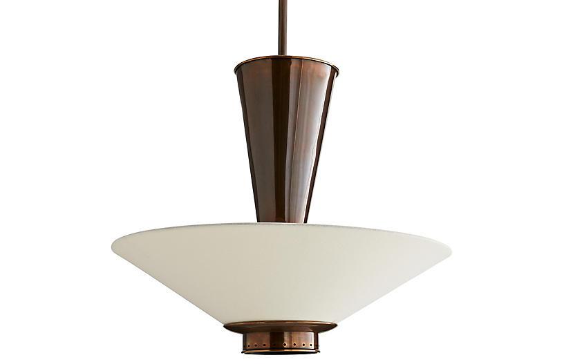 Tavoli Pendant, Brown/White