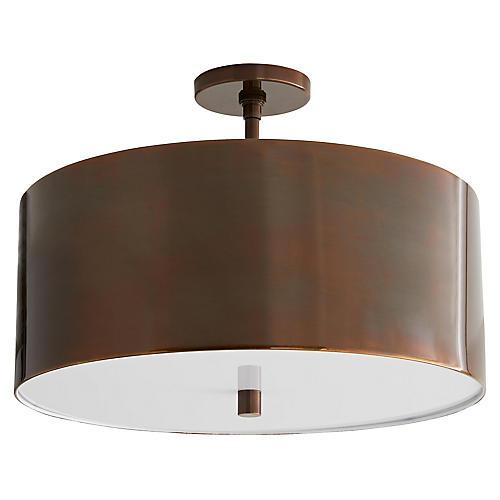 Trabell Semi-Flush, Bronze