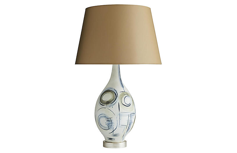 Sandro Lamp, Taupe Sheer/Multi