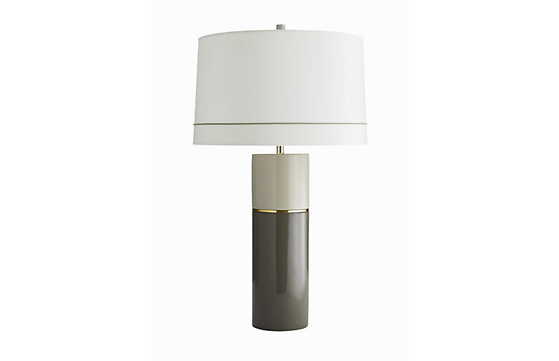 Seale Table Lamp, Taupe