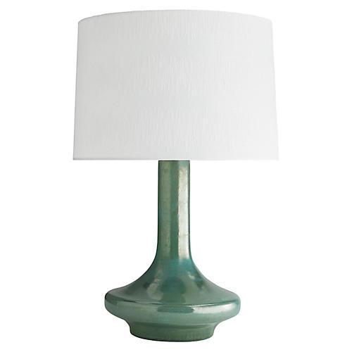 Sarah Table Lamp, Jade Iridescent