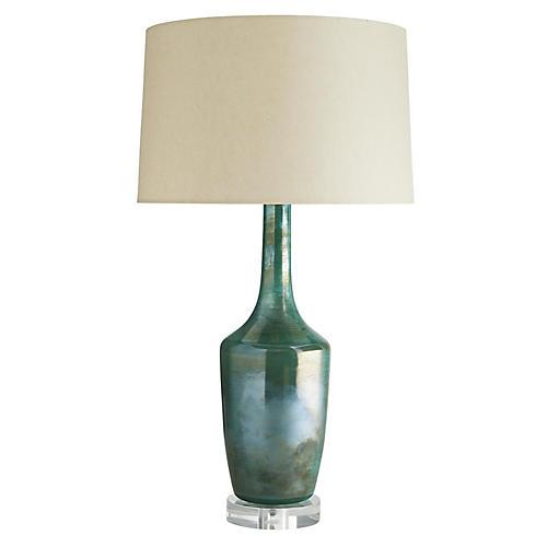 Sadie Table Lamp, Jade Iridescent
