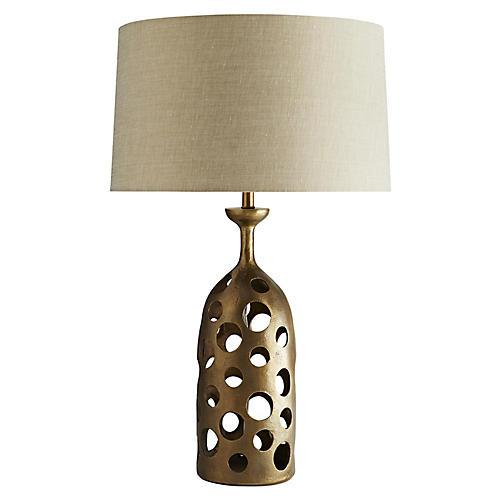 Pierce Table Lamp, Gold