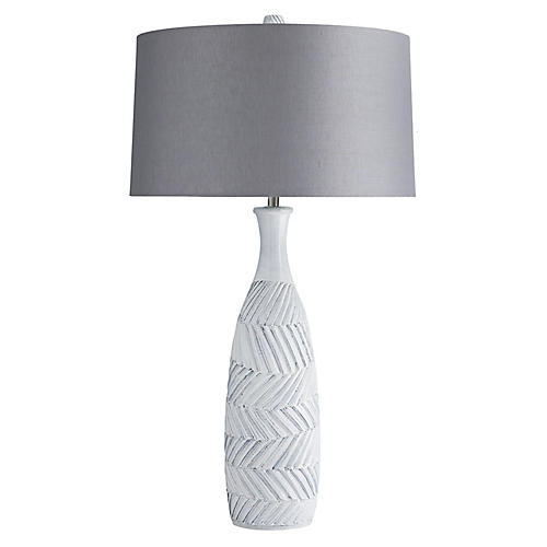 Reyna Table Lamp, Castle Gray