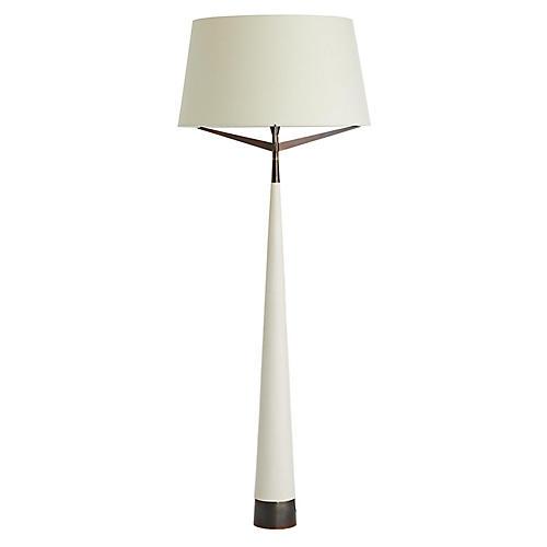 Elden Floor Lamp, Ivory