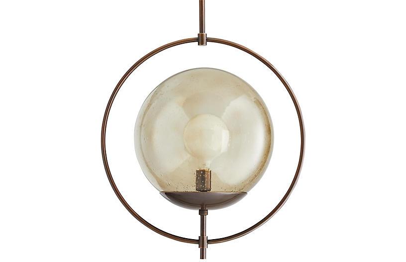 Volta Pendant, Heritage Brass