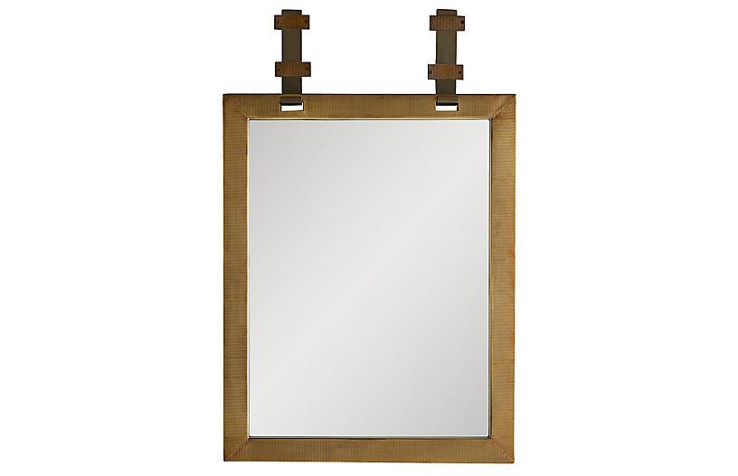 Frank Ponterio Belmont Wall Mirror, Heritage Brass