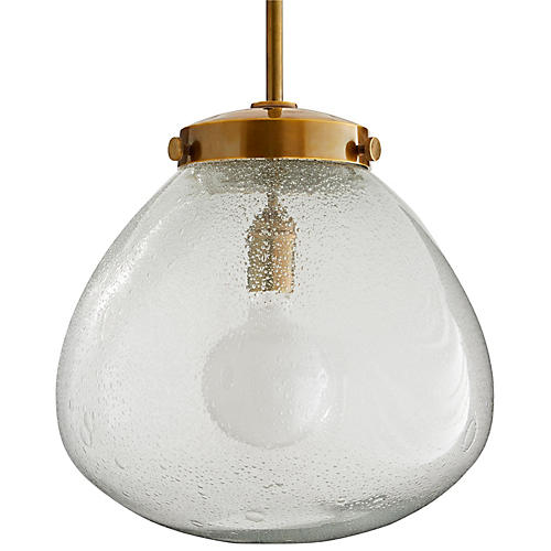 Welch Pendant, Antiqued Brass