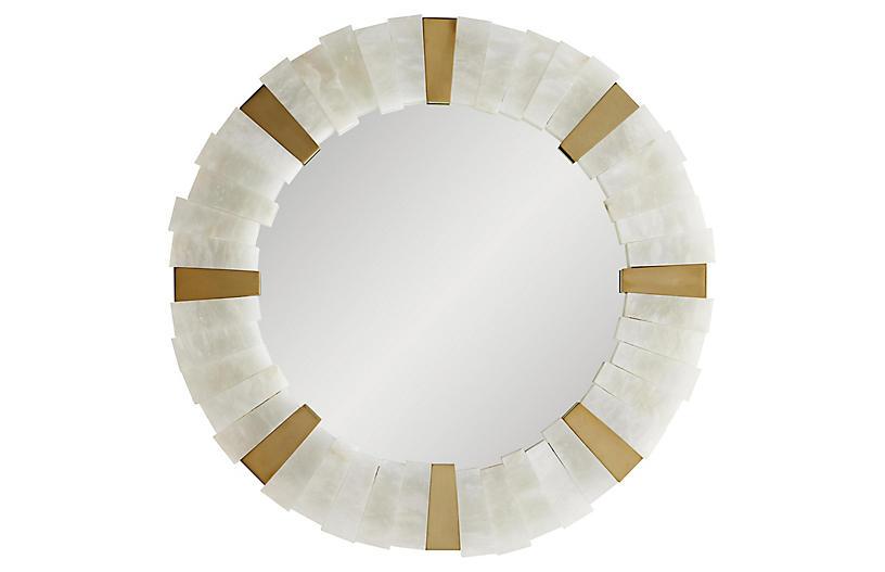Von-Webber Wall Mirror, White