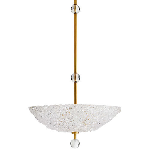 Wendelin Pendant, Antiqued Brass