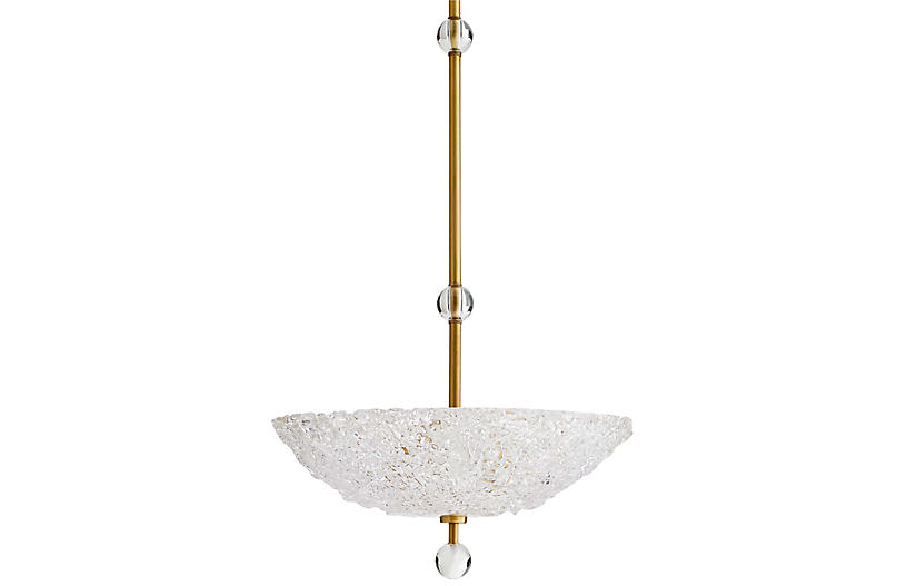 Wendelin Pendant, Antiqued Brass