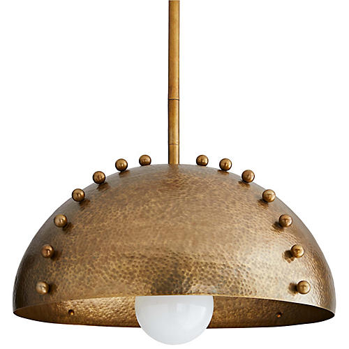Tidwell Pendant, Antiqued Brass
