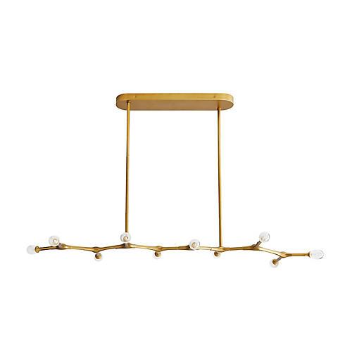 Vanderpool Chandelier, Antiqued Brass
