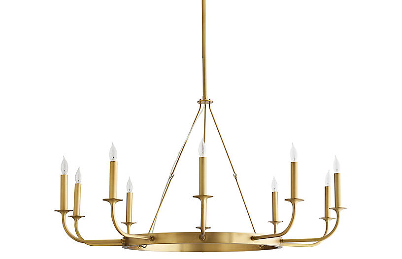 Berlin Chandelier, Antiqued Brass