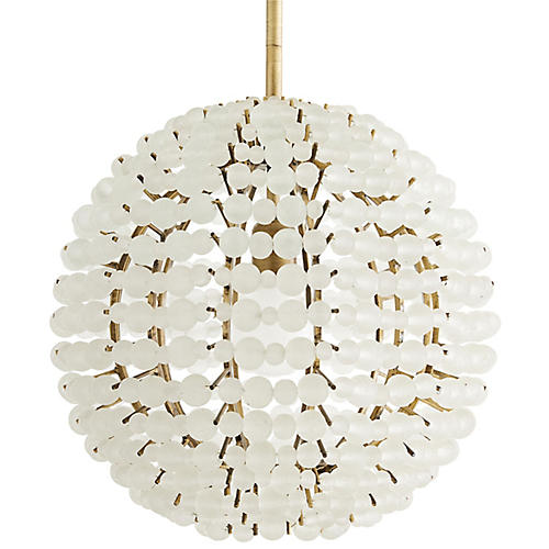Barcelona Pendant, Organic Frosted