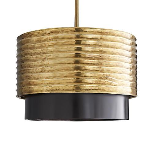 Bradley Pendant, Antiqued Brass