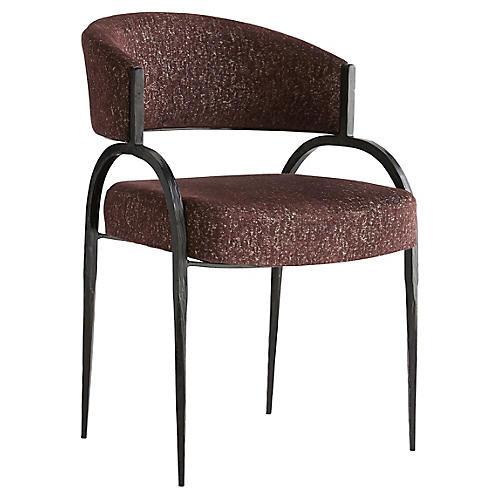 Bahati Accent Chair, Bordeaux Chenille